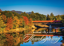 Mountain View Thanksgiving Greeting Card