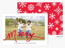 """Merry"" Flat Holiday Photo Card"