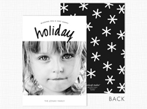 """Holiday"" Flat Photo Christmas Cards"