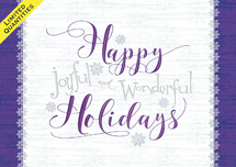 Gleeful Greetings Holiday Cards