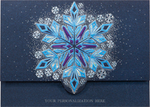 Flickering Flakes Holiday Cards