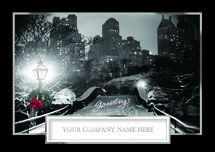 Wintry Cityscape Holiday Cards
